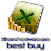 Gold Award and best buy award by xtremehardware.com